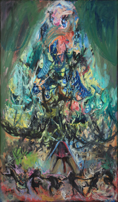 Hyman Bloom, 'The Christmas Tree', ca. 1983