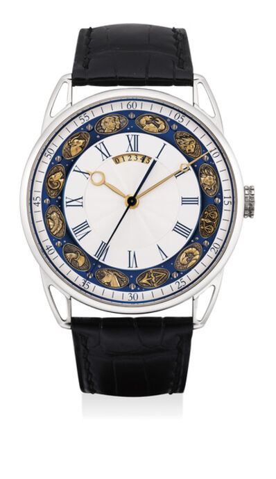 De Bethune, 'A very fine and rare limited edition white gold wristwatch with tourbillon, dead beat seconds and guilloché dial, numbered 4 of a limited edition of 20 pieces', 2015