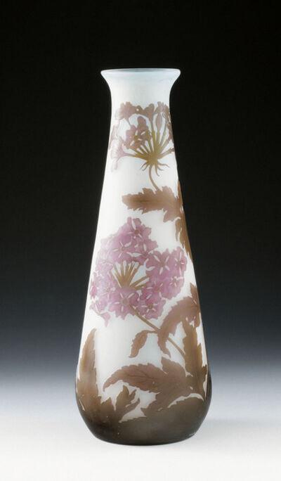 Emile Gallé, 'Vase with phlox', Nancy, France, c. 1900