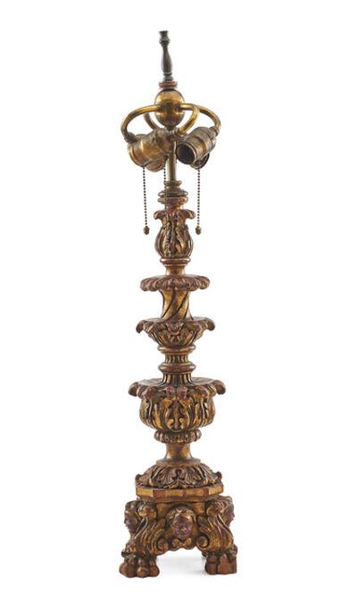E.F. Caldwell, 'E.F. Caldwell Giltwood Table Lamp'