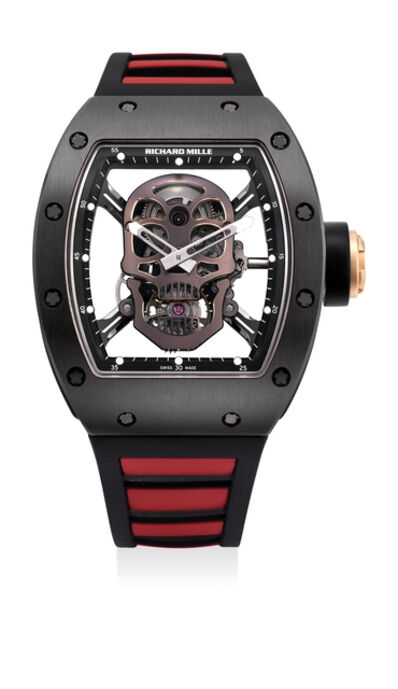 Richard Mille, 'A highly attractive and rare limited edition titanium, pink gold and ceramic skeletonized tonneau-shaped wristwatch with tourbillon, original certificate and box, numbered 6 of a limited edition of 6 pieces, specially made for the Asian market', 2013