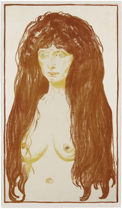 Edvard Munch, 'Die Sünde (Woman with Red Hair and Green Eyes, The Sin)', 1902