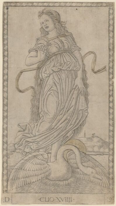 Master of the E-Series Tarocchi, 'Clio', ca. 1465