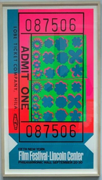 Andy Warhol, 'Lincoln Center Ticket (Feldman & Schellmann, II.19)', 1967