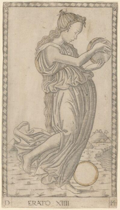 Master of the E-Series Tarocchi, 'Erato', ca. 1465