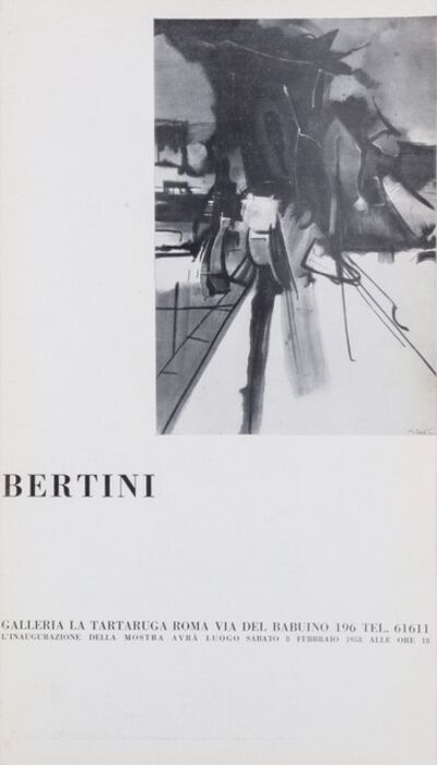 Gianni Bertini, 'Bertini', 1958