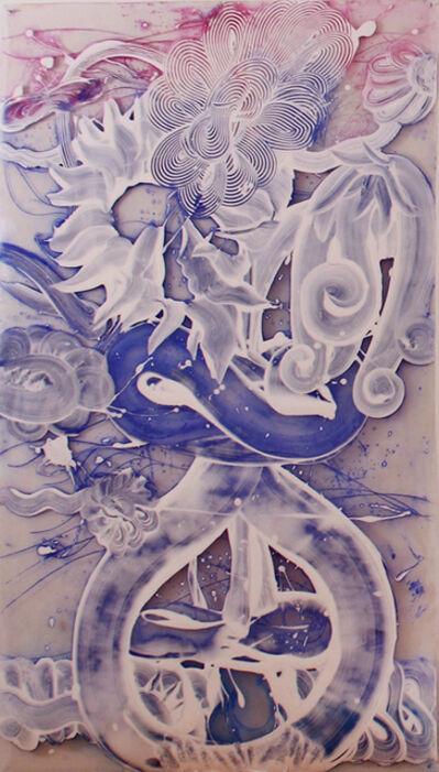 Catherine Howe, 'Reverse Mylar Painting (Poppy)', 2019