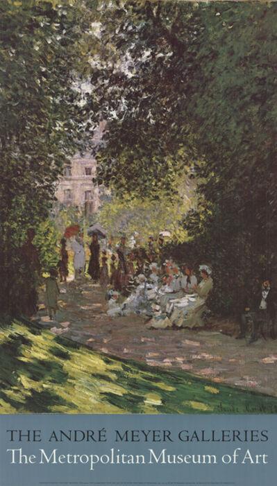Claude Monet, 'Parisians Enjoying the Parc Monceau', 1987