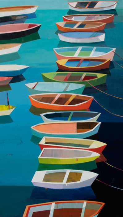 Siddharth Parasnis, 'Colorful Boats in the Bay #25', 2019