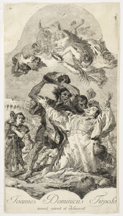 Giovanni Domenico Tiepolo, '[The stoning of Saint Stephen]', 1754