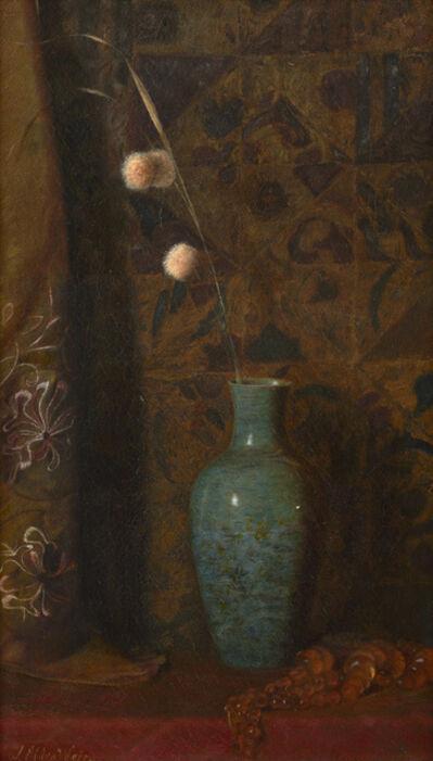 Julian Alden Weir, 'Still Life with Allium and Amber Beads', 1877-1880