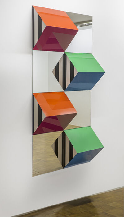 Daniel Buren, 'Prisms and Mirrors, high relief - n°XIX: situated work ', 2017