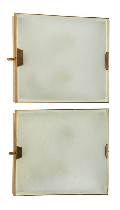 Stilnovo, 'Pair Of Stilnovo Glass Sconces', ca. 1950