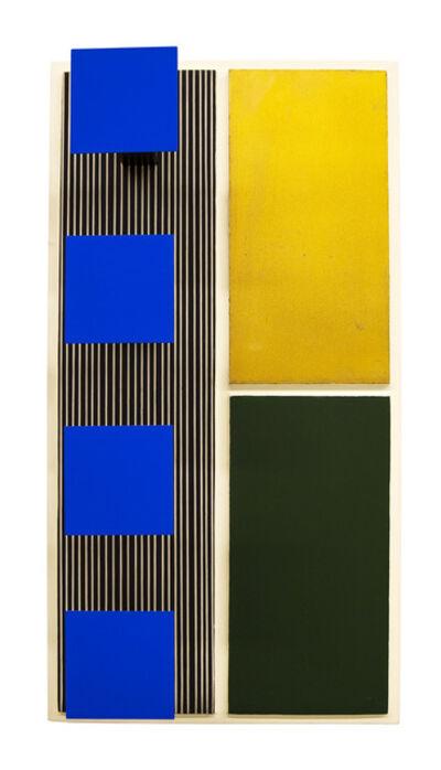 Jesús Rafael Soto, 'Azul, Dorado y Oliva ', 1969