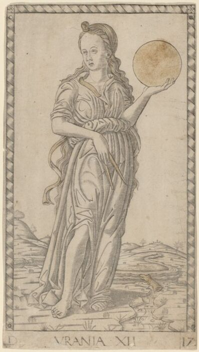 Master of the E-Series Tarocchi, 'Urania', ca. 1465