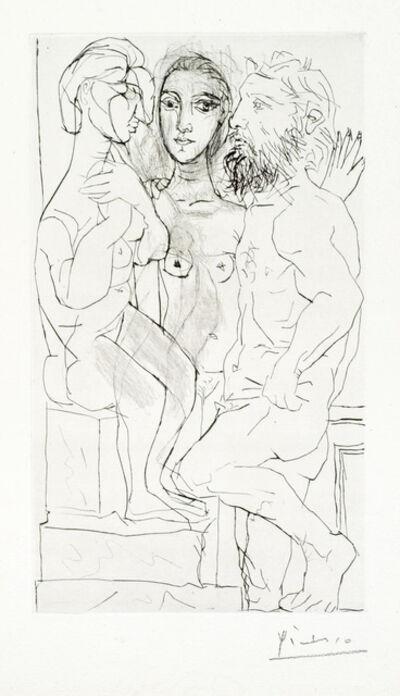 Pablo Picasso, 'Sculpteur, Modele et Sculpture: Femme Assise', 1933
