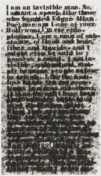 Glenn Ligon, 'Untitled (I Am an Invisible Man)', 1991