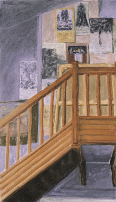 Avigdor Arikha, 'Studio interior with posters ', 1987