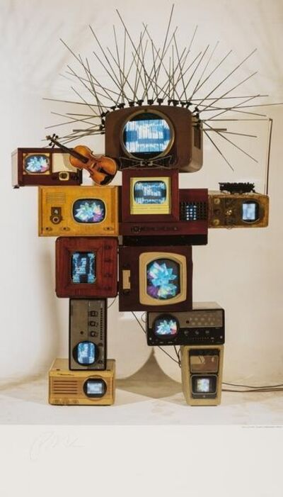 Nam June Paik, 'Hommage to Einstein', 1991
