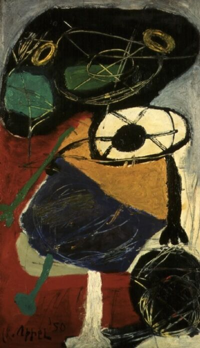 Karel Appel, 'Young boy with a ball'