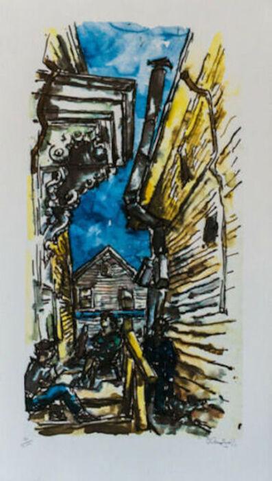 Chaim Gross, 'New England Street Scene', 1979