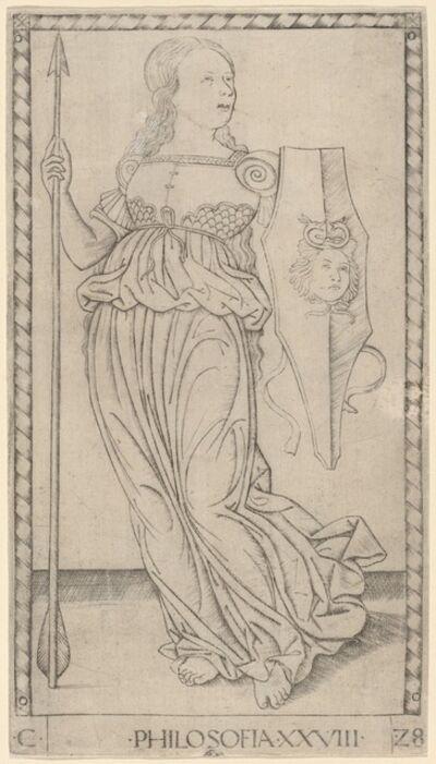 Master of the E-Series Tarocchi, 'Philosofia (Philosophy)', ca. 1465