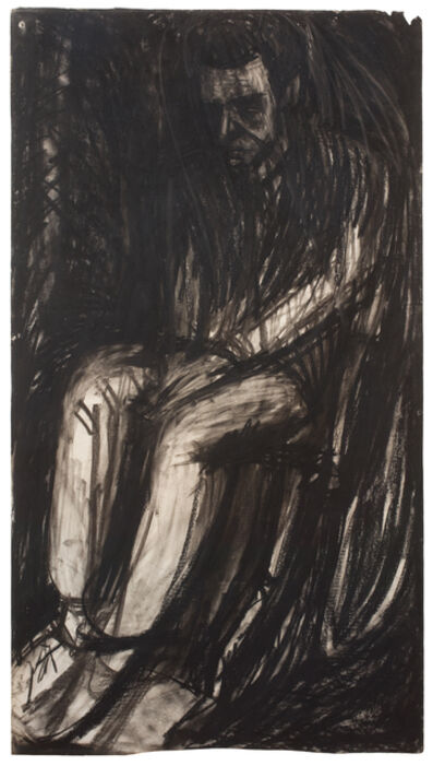 Leon Kossoff, 'Young Man Seated', 1961