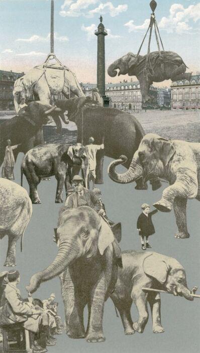 Peter Blake, 'Paris-Elephants', 2010