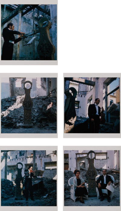 Carlos Garaicoa, 'Acerca de la caja del reloj y del tiempo que se ha ido (About the Grandfather Clock and How Long It's Been Gone)', (i, iii, iv, v) 1995, 2000, (ii) 1995, 2000
