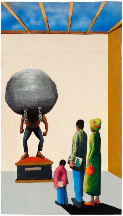 Benny Andrews, 'Cotton Monument(Interior Series)', 2002