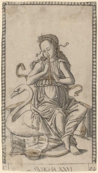 Master of the E-Series Tarocchi, 'Musicha (Music)', ca. 1465