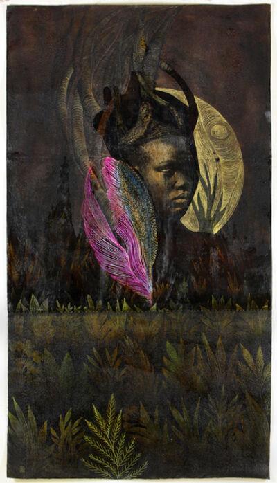 Tuli Mekondjo, 'Ohani oya ninga eti lambali/ The moon has become the the eyes of the deer ', 2020