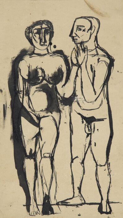 Tyeb Mehta, 'Untitled (Two Figures)'