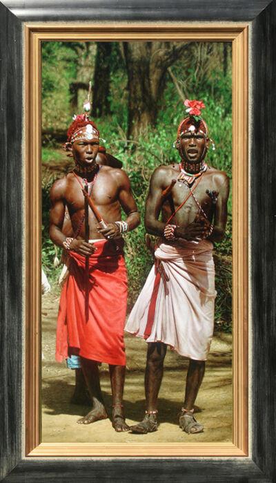 Tony Karpinski, 'Dancing Samburu Warriors', 21st Century
