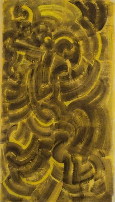 Mark Tobey, 'Untitled (Brown and yellow composition)', 1970