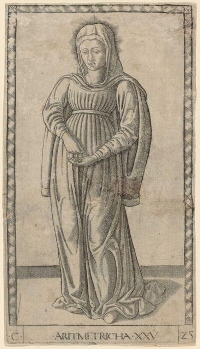 Master of the E-Series Tarocchi, 'Aritmetricha (Arithmetic)', ca. 1465