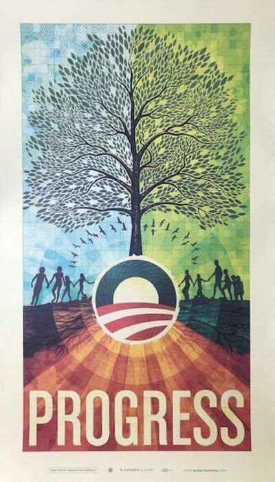 "Artist's For Obama 2008, '""Progress"" Scott Hansen ', 2008"