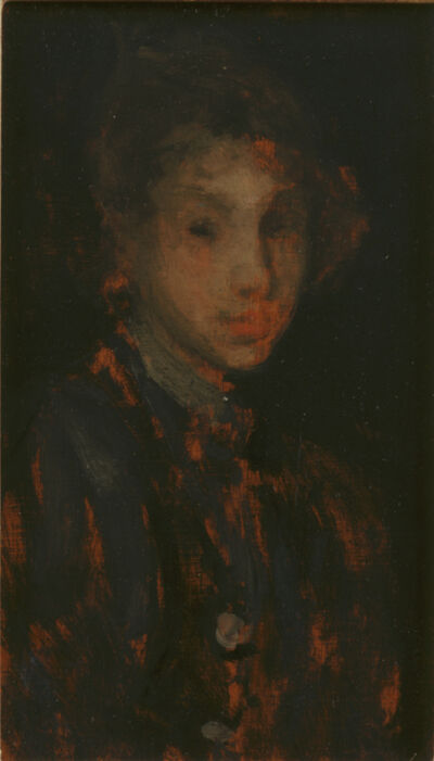 James Abbott McNeill Whistler, 'Study of a Girl's Head', ca. 1882