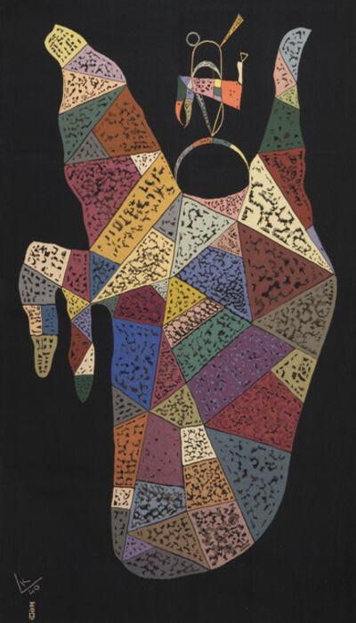 Wassily Kandinsky, 'Unique modern tapestry designed by Wassily Kandinsky - Sur Fond Noir', ca. 1940
