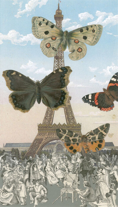 Peter Blake, 'Inkjet on canvas - Paris- Butterflies I', 2013