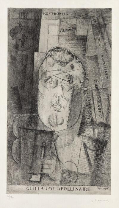 Louis Marcoussis, 'Portrait de Guillaume Apollinaire', 1912-20