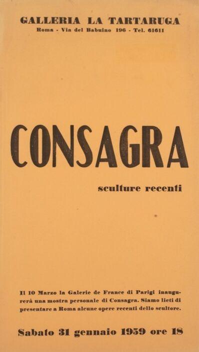 Pietro Consagra, 'Sculture recenti', 1959