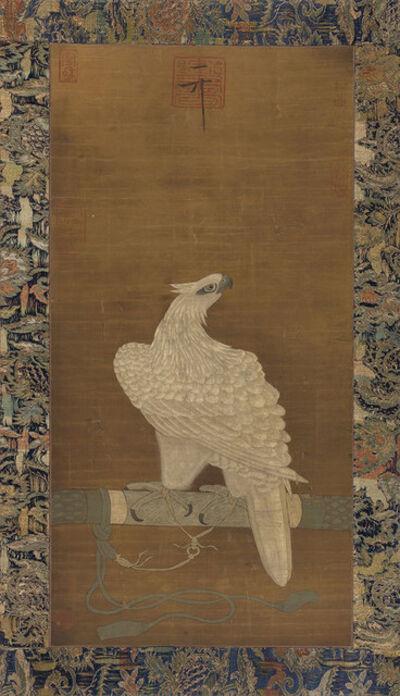 Chinese School, 'White Hawk, Seals', 19th Century