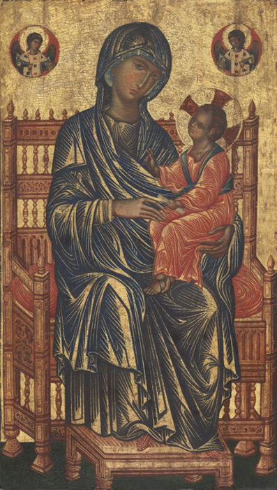 'Enthroned Madonna and Child', 13th century