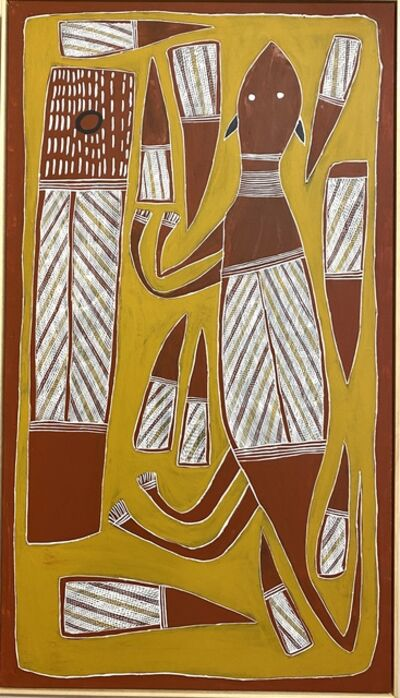 Philip Gudthay Kudthay, 'Lorrkon (Hollow Log) and Goanna', 1995