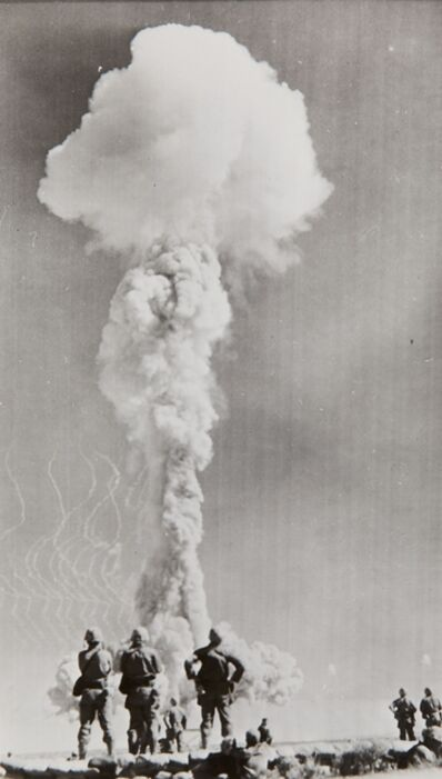 Atomic Bomb Experiment, 'Atomic test , Nevada proving ground', 1952