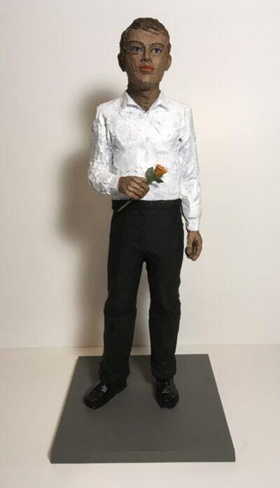 Stephan Balkenhol, 'Mann mit Rose', 2011