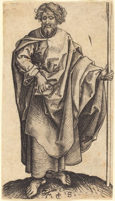 Martin Schongauer, 'Saint Thomas', ca. 1480