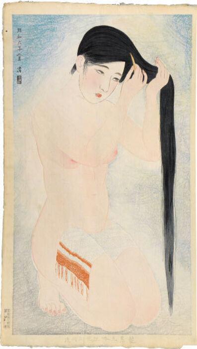 Kobayawaka Kiyoshi, 'Styles of Contemporary Make-up: no. 5, Glossy Black Hair', 1931