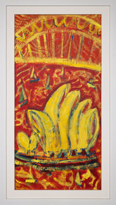 John Maitland, 'Harbour View (Red & Yellow)', 2020